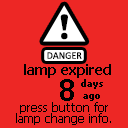 Lamp expiration screen
