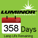 Lamp life remaining screen